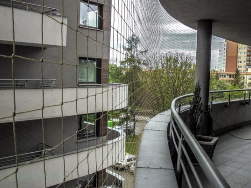 Siatka Ochronna Dla Kota Na Balkon 50 Mm Piaskowa